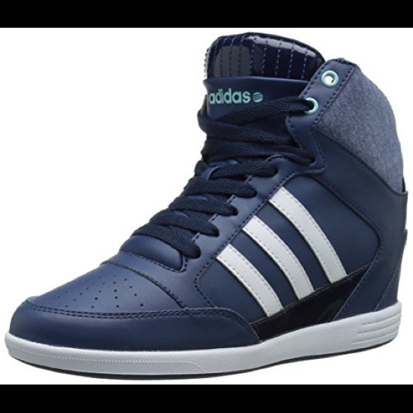 adidas NEO Super Wedge W High Top Fashion Sneaker